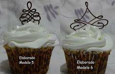 cupcakes com arabescos de chocolate - Pesquisa do Google