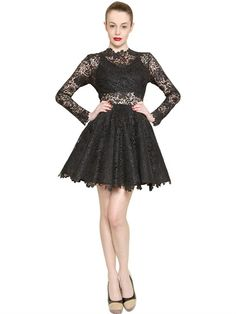 LONG SLEEVED COTTON LACE DRESS ($1360)