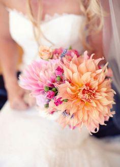 Wonderful Useful Tips: Wedding Flowers Bouquet Dahlias wedding flowers autumn garden roses. Bouquet Bride, Dahlia Wedding Bouquets, Dahlia Bouquet, Wedding Flowers, Bridal Bouquets, Peach Bouquet, Wedding Dresses, Peach Boutonniere, Lavender Bouquet
