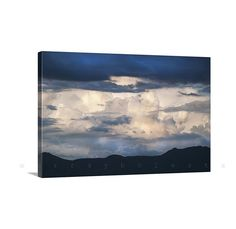 Canvas Art Cloud Art Indigo Blue Canvas Print Sky by MurrayBolesta