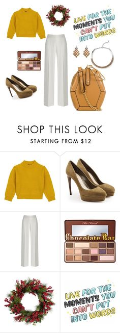 """Monday Inspo"" by angieberrys on Polyvore featuring Comme Moi, Alexander McQueen, Too Faced Cosmetics and John Lewis"
