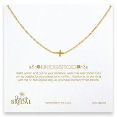 "Dogeared Bridesmaid 18"" Gold Cross Necklace Jewelry | Weddington Way"
