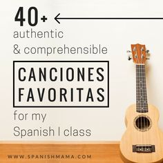 A great list of more than 40 favorite authentic songs for teaching Spanish 1. Use songs to teach culture, language, and pronunciation.