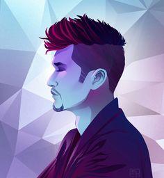 Magnus Bane, Bi Week (art by @ShirmirArt on twitter)