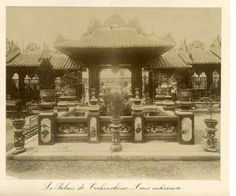 Cour intérieur du Palais de Cochinchine  Exposition universelle 1889, Paris  Tirage albuminé  21x27  Circa 1889