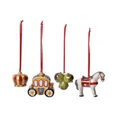 Set 4 decoratiuni brad Nostalgic ornaments Fairytale