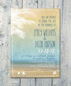 Set of 100  Palm Trees Beach and Sea Wedding by WeddingSundaeShop, $135.00