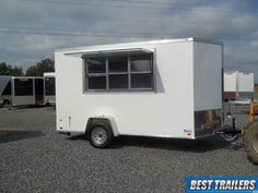 tall New concession vending trailer white 6 x 12 enclosed cargo trailer Best Trailers, Cargo Trailers, Used Food Trucks, Enclosed Trailers, Concession Trailer, Covered Wagon, Recreational Vehicles, Link, Motors