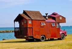 "sweetkiwipete:  "" Took this when near Whangarei, New Zealand where I saw many house trucks like this…  I want one.  """