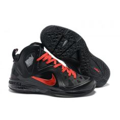 cfe0b10df41 Nike Lebron 9 · 516958-102 Lebron 9 PS Elite Playoffs PE Black Red Ruby  G06029 Lebron Shoes For