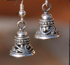 Sterling Silver Bali Bells Christmas Wedding Chime DeSIGNeR Earrings So unique and pretty