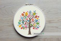 cross stitch pattern easter tree modern cross stitch por Happinesst