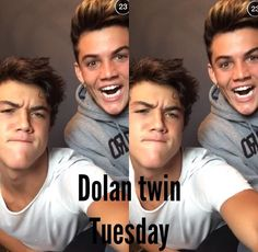 Happy Dolan Twin Tuesday Everyone!!! Lol  Grayson's Face