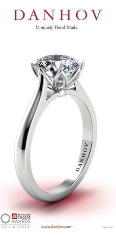 Capri Jewelers Arizona ~ www.caprijewelersaz.com Danhov Diamond Engagement Ring Style #CL140 @#JCKEvents