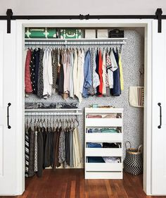 Closet organizing tip: If there's empty space, leave it! Don't fill it with random items that don't belong just because there's room.