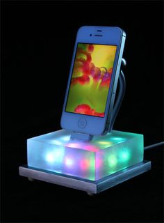 iphone dock color changing combine with app to make a Lavalamp. #cool #tech #gadget