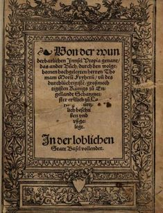 The first German edition of Utopia (Basel, 1524). 714.b.38.
