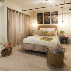 We love this look! Add curtains if you don\'t have doors on your ...