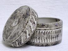 Native American Navajo Ceramic Horsehair Pottery Navajo Indian Made Ceramic Jewelry Boxes $45