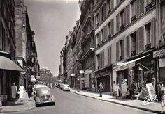 rue des Martyrs - Paris 9ème/18ème La rue des Martyrs vers 1960.