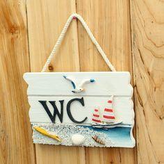 Handmade Wooden Creative Top Design Toilet Door Sign