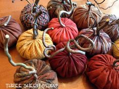 How To Make Rustic Wool Pumpkins With Angry Gnarled Stems...