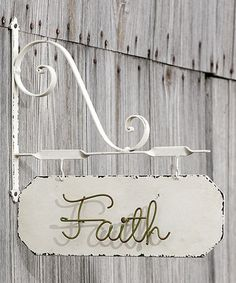 Love this 'Faith' Bracketed Sign on #zulily! #zulilyfinds