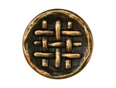 3 Weave Brass Shank Button 11/16 inch 18 mm by ButtonJones, $3.00