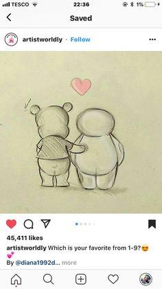 new ideas painting easy disney black white Cute Disney Drawings, Cute Animal Drawings, Cartoon Drawings, Easy Drawings, Pencil Art Drawings, Pokemon, Drawings For Boyfriend, Cute Sketches, Black And White Drawing