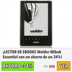 Lector de eBooks Wolder Mibuk Essential. #ofertas #descuentos #dameofertas