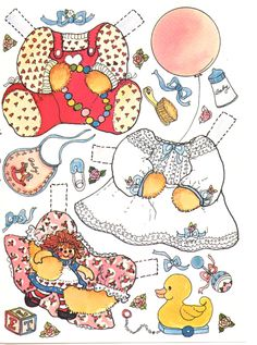 Baby Teddy Bear Paper doll card #2