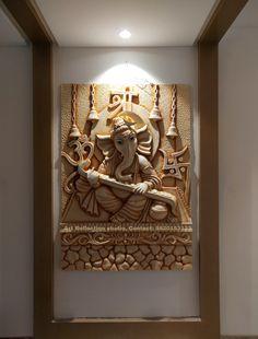 Sculpture Painting, Mural Painting, Mural Art, Wall Murals, Paintings, Home Window Grill Design, Hanuman Pics, Indian Wall Art, Wall Panel Design
