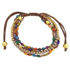 Beaded Pull Cord Bracelet