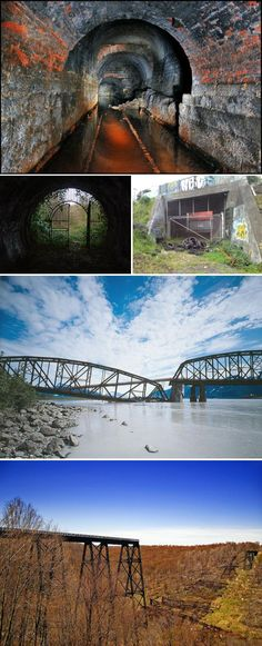When railways become abandoned it doesn't take long for bridges and tunnels to become unsafe or even collapse.