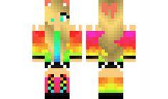 minecraft skin Rainbow-girl-Edited