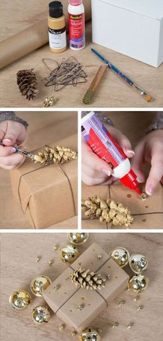 Jingle bells! Take your gift wrapping to the next level with our #DIY ideas! #holiday #paper