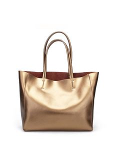 Shop Totes - Golden Casual Medium Cowhide Leather Tote online. Discover unique designers fashion at StyleWe.com.