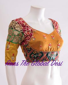 Readymade saree blouse online USA Premium range of blouses, croptops, handwork blouses which can be mixed and matched with variety of Sarees and lehengas . Choli Blouse Design, Kurta Neck Design, Stylish Blouse Design, Saree Blouse Neck Designs, Fancy Blouse Designs, Bridal Blouse Designs, Blouse Patterns, Lahenga, Sarees