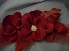 Bridal Sash bridal beltorange wedding by simplycharming48 on Etsy, $40.00