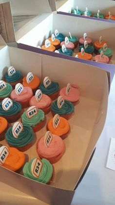 Business, corporate, anniversary cupcakes