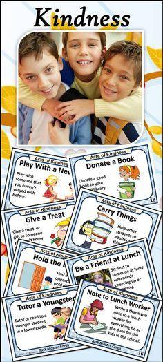Wonderful way to promote kindness in the classroom. 48 cards. Builds character and community. Editable. Create your own.