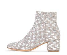 Luxury Nest Bootie #agl #aglshoes #shoes #bootie #nest #silver #pale #fashion
