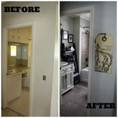 Guest Bath Reno on the blog today! www.ohamyrepurposed.com