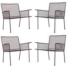 Set of Four Outdoor Lounge Chairs by Van Keppel-Green   From a unique collection of antique and modern garden furniture at https://www.1stdibs.com/furniture/building-garden/garden-furniture/