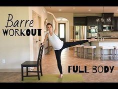 FULL BODY BARRE WORKOUT | 30 mins | Abs, Arms, Cardio, Legs, Butt - YouTube