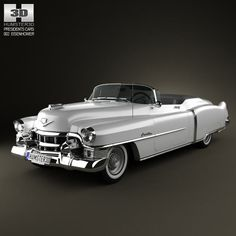 Cadillac Eldorado Convertible 1953 3d model from humster3d.com. Price: $75