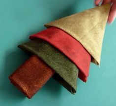 Fat Quarter Tree by Angie Padilla. How to fold four fabric fat quarters into a Christmas Tree