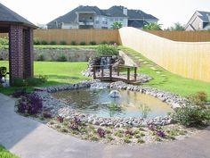 water garden & foot bridge