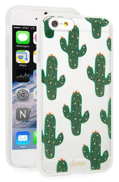 Embrace a little Southwestern flair to with this cactus-print, impact-resistant phone case.