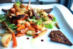 Ovnsstekte Rotgrønnsaker og Rugbrødchips